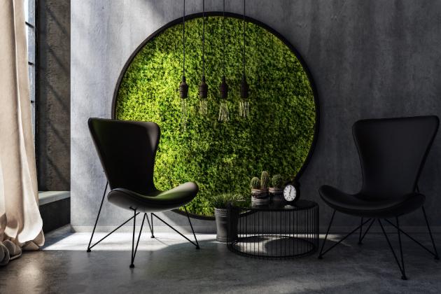 Pohled na květiny uklidňuje, navozuje pocit pohody a celý prostor přirozeně zútulní. Proto bytoví architekti a interiéroví designéři ve svých návrzích nezapomínají na zeleň a stále více populární jsou tak i dekorativní mechové obrazy.