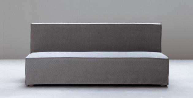 Purebeds sofa bed ell umožňuje v menších prostorech kompromis mezi pohodlím a designem