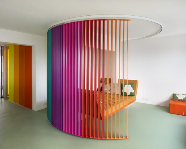 Barvy podle Matali Crasset dodávají prostoru dynamiku.
