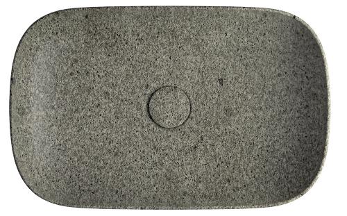 Umyvadlo Le Pietre nadesku (Ceramica Globo), šedivý odstín, kámen, výběr zrozměrů  55 × 37cm a60 × 40cm, cena nadotaz, www.perfecto.cz