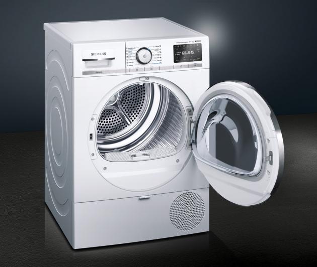 Sušička WT47XEH0CS (Siemens), inteligentní systém samočištění intelligentCleaning, nízká spotřeba, cena 28990Kč, WWW.SIEMENS-HOME.BSH-GROUP.COM/CZ