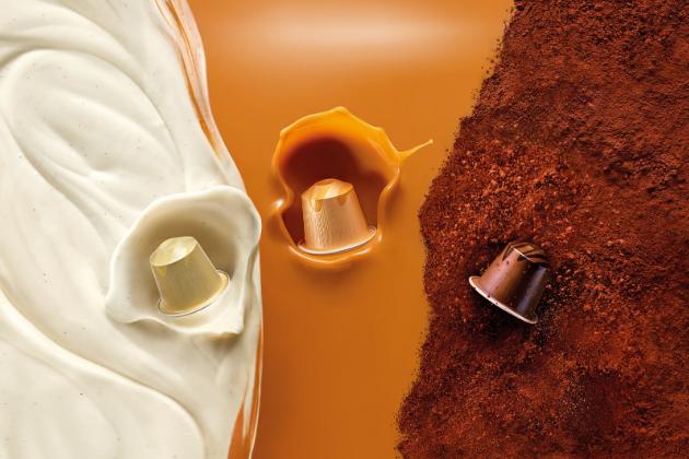 Nespresso BARISTA CREATIONS ochucené kávy jsou kolekcí tří velmi lahodných káv pro kávovary NESPRESSO