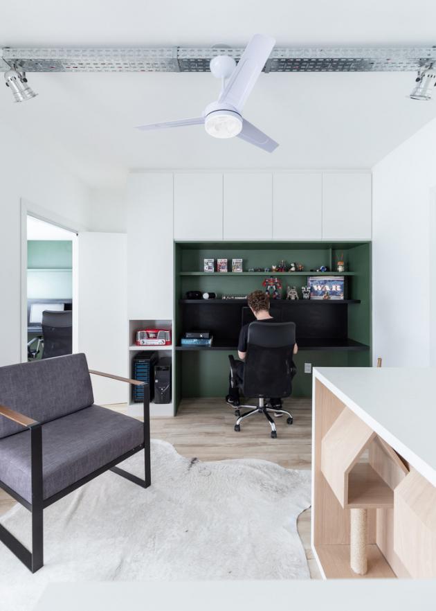 98 m2 byt, Brazílie, studio:Urban Ode Arquitetura e Urbanismo (foto:Marcelo Donadussi)