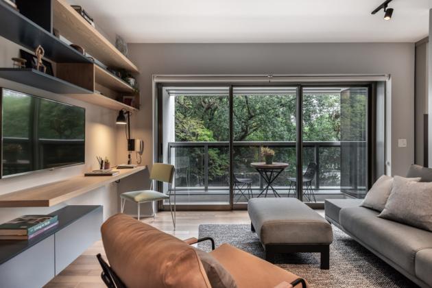 45 m2byt, Brazílie, studio: SuperLimão Studio (foto: Escanhuela Photo)
