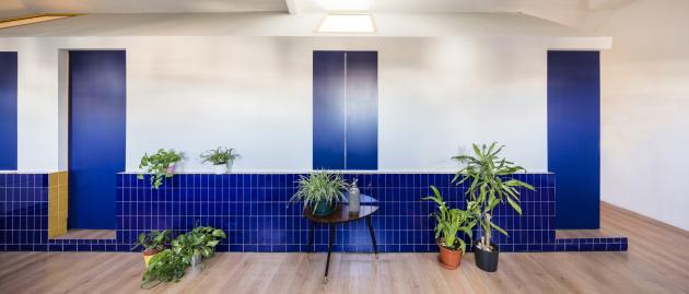 Půdní byt o rozloze 59 m2 se nachází vcentru Madridu. Dispozičně je rozdělený do menších místností přístupných zchodby.