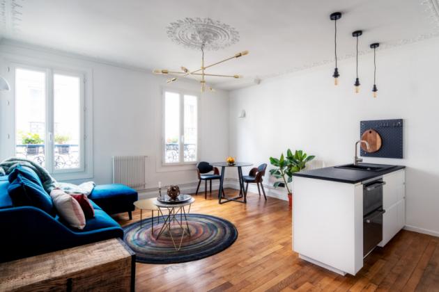 Obrazem: Zrekonstruované bydlení v Paříži