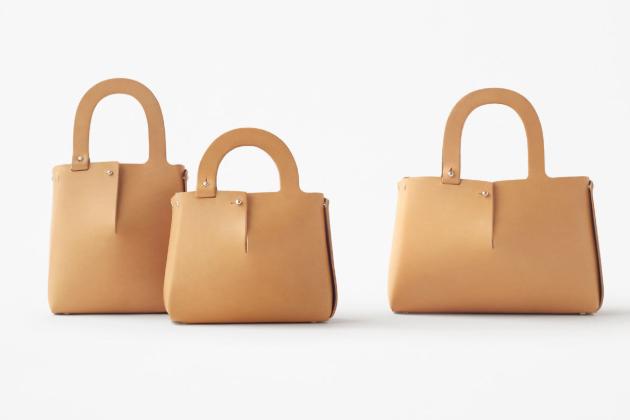 Japonské designové studio Nendo ve spolupráci s UP TO YOU ANTHOLOGY navrhlo koženou kabelku Mai.