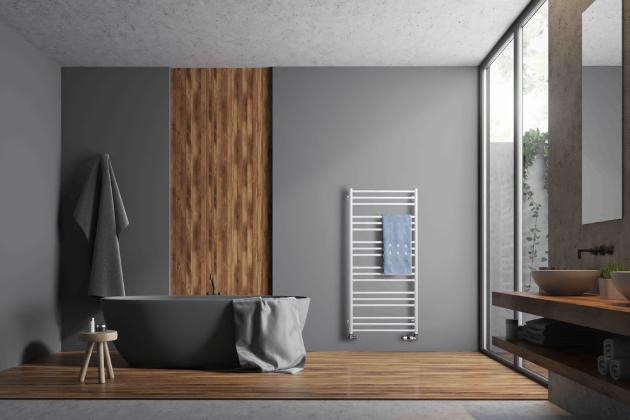 Radiátor Sorano (P. M. H.), různá barevná provedení, ideální pro kombinaci s podlahovým nebo centrálním vytápěním, cena na dotaz, WWW.SENESI.CZ