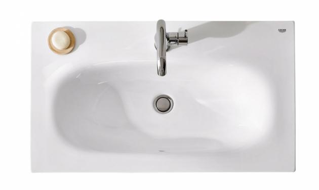 Minimalistické umyvadlo Essence (Grohe), jemné organické tvary, cena 6 351 Kč, WWW.GROHE.CZ