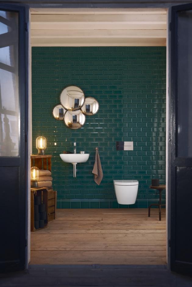Umývátko ze série Me by Starck (Duravit), 45 × 45 cm, designér Philipp Starck, cena 4 506 Kč, WWW.PROCERAM.CZ