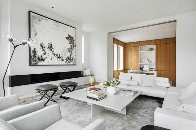 540 m2 velký penthouse vlastní manželé Barbara a Dick Couch, zakladatelé americké společnosti Hypertherm.
