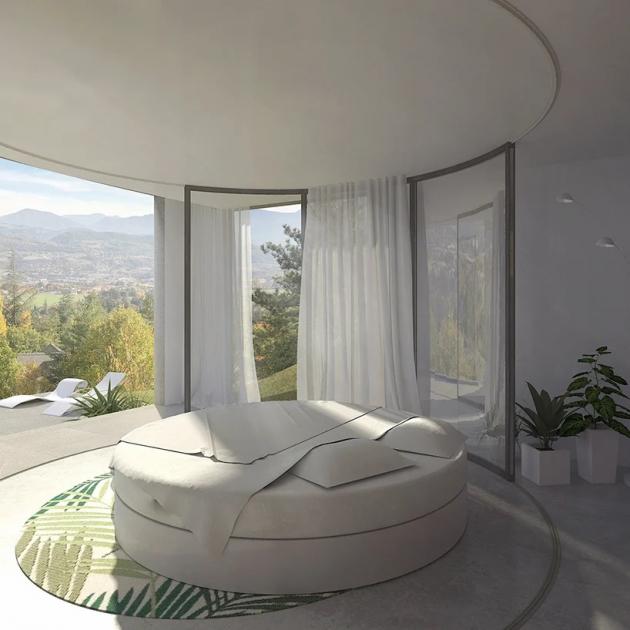 Z domu je překrásný výhled s výhledem na město Gap ležící 100 km jižně od Grenoble.