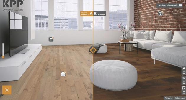 Zpohodlí křesla či pohovky si dnes můžete vybrat podlahovou krytinu díky nové aplikaci www.kpponline.cz.