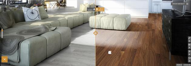 Zpohodlí křesla či pohovky si dnes můžete vybrat podlahovou krytinu díky nové aplikaci www.kpponline.cz.¨