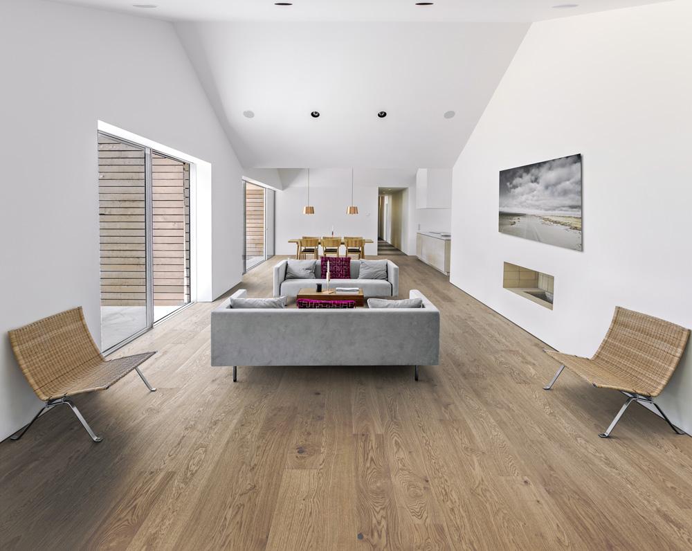 Dřevěná podlaha z kolekce Lux (Kährs), dekor Dub Coast, ultramatný lak, cena od 2 977 Kč/m2, WWW.KPP.CZ