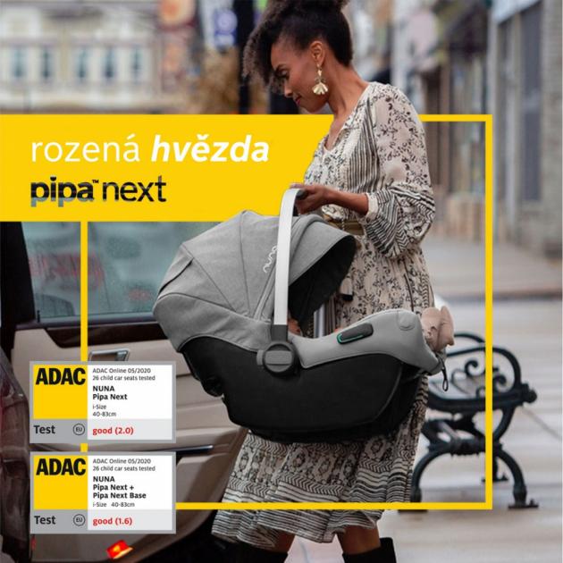 V celkovém hodnocení i dalších parametrů dosáhla autosedačka NUNA PIPA next při použití se základnou Pipa Next Base skóre 1,6. Prémiové autosedačky, kočárky a další produkty holandské značky NUNA k nám dováží společnost Babypoint.