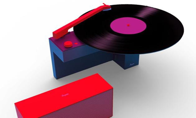 DUO (HYM Originals) je gramofon sodnímatelným reproduktorem.