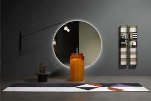 Volně stojící umyvadlo Vitreo (Antonio Lupi), design Carlo Colombo aAndrea Lupi, materiál Cristalmood, 50 × 89cm, vevíce barvách, cena nadotaz, www.antoniolupi.it