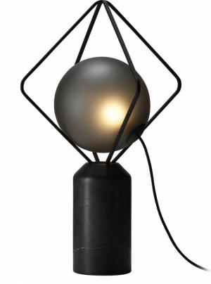 Jack O'Lantern (Brokis), design Lucie Koldová, ručně foukané sklo, kov a mramor, výška 63 cm, O 40 cm, cena 48 860 Kč, WWW. BULB.CZ