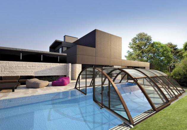 Skimmerový bazén Klasik (Albixon), velmi odolný a stálobarevný materiál Albistone s dlouhou životností, cena na dotaz, zastřešení bazénu Klasik (Albixon), půlkruh s nastavením výšky až 250 cm, staticky odolný povětrnostním vlivům, cena na dotaz, WWW. ALBIXON.CZ