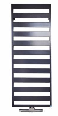 Designový koupelnový radiátor a držák na ručníky v jednom nabízí díky promyšlenému tvarovému řešení snadné čištění i dostatečný prostor k zavěšení a sušení ručníků. K dostání je výhradně elektrické řešení. Koupelnový radiátor Casteo (Kermi), více barev, cena od 10 390 Kč, WWW.KERMI.CZ