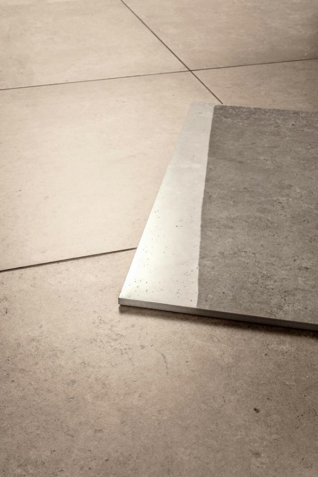 Přesvědčivým dekorem přírodního vápence zaujme série Limestone s reliéfním, matným nebo leštěným povrchem