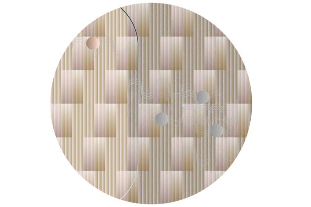 Při tvorbě kolekce koberců Swell (Moooi Carpets) se designérka Mae Engelgeer nechala inspirovat vzory sedmdesátých let a rozehrála elegantní hru se zaoblenými tvary. Navíc svým přístupem k barvám a textiliím kolekci vdechla jemnost a citlivost. Koberce jsou vyrobeny z vlny, měkké příze a polyamidu a jsou nabízeny ve dvou velikostech. Cena od 72 504 Kč, WWW.BULB.CZ