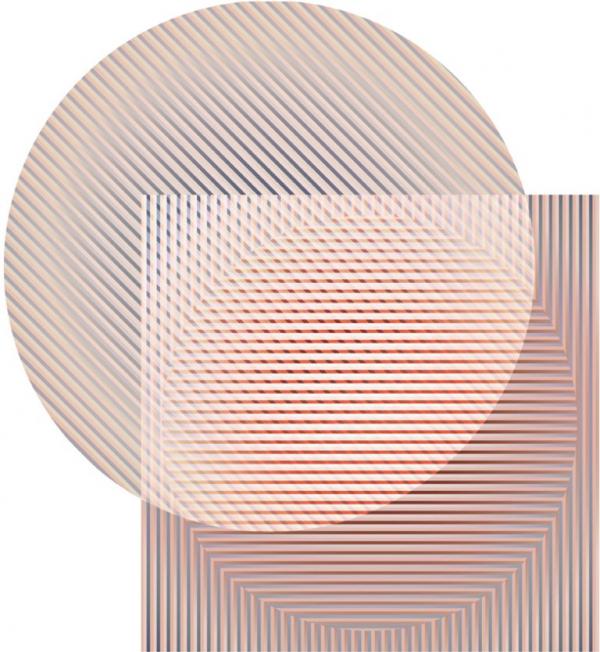 S takovými principy pracovali designéři experimentálního designérského studia Rive Roshan při výrobě designu koberců Trichroic Hoxton – Duo Shape (Moooi Carpets).