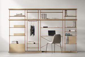 Jednoduchost, inovace a originalita bez extravagance. Taková je filozofie studia Yonoh, které je autorem modulárního systému Bost (Treku). Ten zahrnuje úložný nábytek mnoha rozměrů a provedení, vhodný pro prostory celého bytu od předsíně po ložnici. Konstrukce z kovu je kompatibilní s mnoha komponenty ze dřeva, zásuvkami, tyčemi a policemi. Cena na dotaz, WWW.TREKU.COM