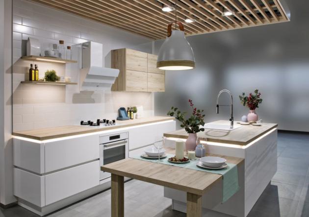 Koncept Skandinávská kuchyně (Siko), obklad Ribesalbes Chic Colors blanco, spotřebiče Beko, cena na dotaz, WWW.SIKO.CZ