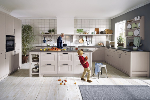 Nadčasová kuchyň Canto (Schüller) v country stylu, cena na dotaz, WWW.CASAMODERNA.CZ