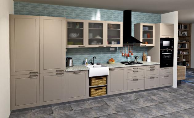Kuchyň Retro (Sapho), široká nabídka barevného provedení povrchů, cena 47 400 Kč, WWW.ESHOP. SAPHO.CZ