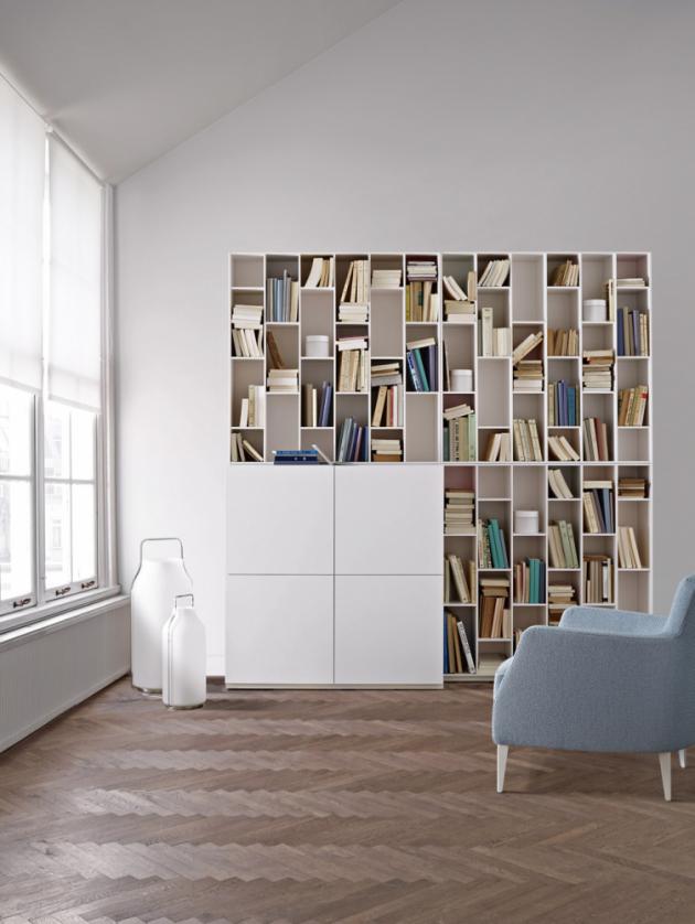 Knihovna Book and Look (Ligne Roset), design Pagnon a Pelhaitre, lakovaná MDF, cena od 134 770 Kč, WWW. LIGNE-ROSET. COM