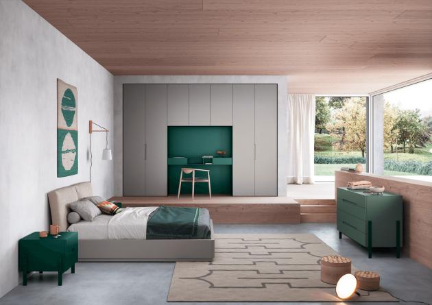 Postel Nido (Novamobili), studio Novamobili, lakované dřevo, textilie, eko kůže i kůže, bez matrace a roštu, cena od 57 560 Kč, WWW.LINO.CZ
