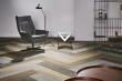 Flotex Planks dekor Wood, formát lamel 100 × 25 cm. Kombinací tří odstínů snadno vytvoříte podlahu s dřevěným vzhledem