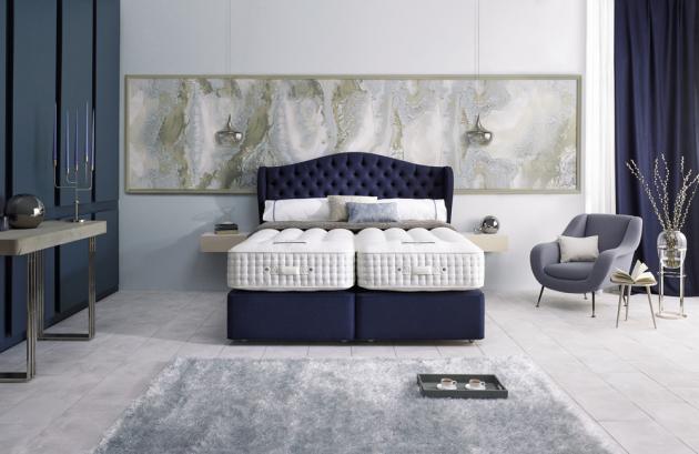Dvoulůžková postel Magnus (Somnus), odstín Seven-Night Shade, 100% přírodní materiály, WWW.DREAMBEDS.CZ