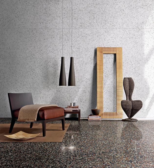 Dlažba Dorsoduro ze série Le Veneziane (Cerim), lesklá povrchová úprava, 60 × 60 cm, cena 1 190 Kč/m2, WWW.SENESI.CZ