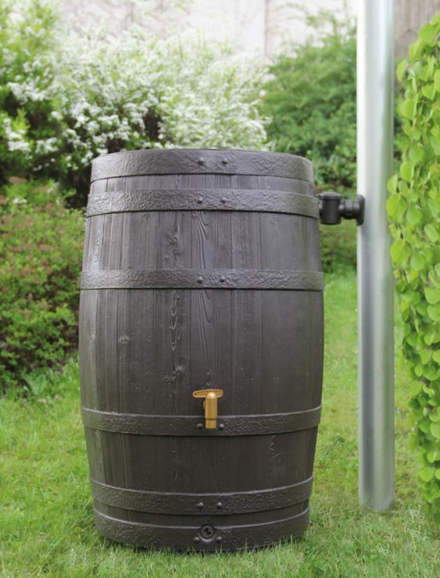 Sud na vodu 4rain Vino 250 l tmavě hnědý vč. víka a výpustného ventilu