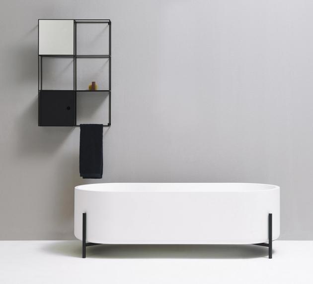 Vana Stand (Ex.t), kovová konstrukce, inovativní materiál Living Tec, 160 × 70 × 51 cm, cena 183 900 Kč, WWW.EX-T.COM