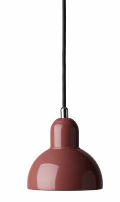 Závěsné svítidlo Kaiser Idell (Fritz Hansen), design Christian Dell, lakovaná ocel / PVC potažené textilií, o 14,5 cm, výška 15,5 cm, cena od 6 573 Kč, WWW.STOCKIST.CZ