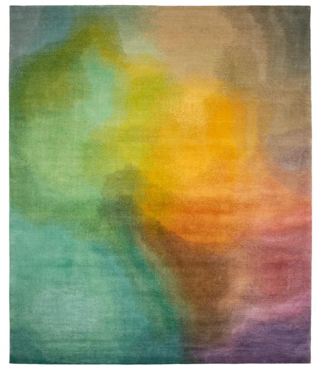Kusový koberec Tenno z kolekce Spektra (Jan Kath), která vyniká jedinečnými přírodními materiály ručně tkanými v Himálaji, zakázková výroba, cena 62 490 Kč/m2, WWW.JAN-KATH.COM