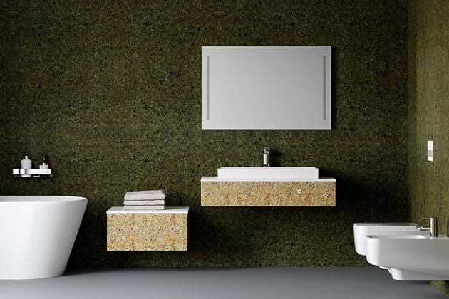 Moderní styl skříněk je podpořen absencí úchytek, zásuvku s lehkostí otevřete pouhým tlačením.