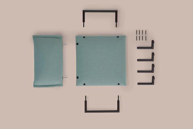 Lehké avšestranné křeslo Click od španělského výrobce Sancal