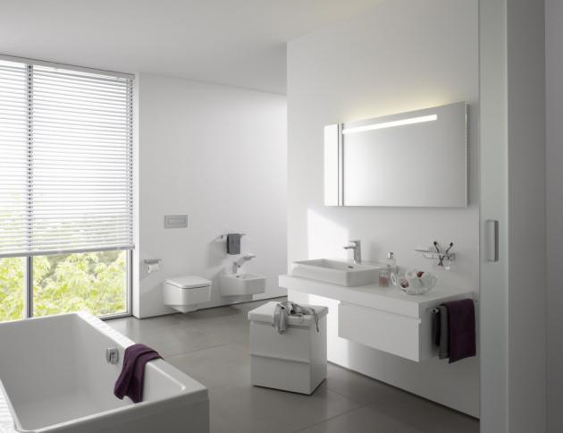 Kromě klasických a velmi oblíbených Laufen Pro klozetů nabízí série Pro S rovněž toaletu hranatého tvaru, která dokonale ladí s umyvadly z rodiny Pro.