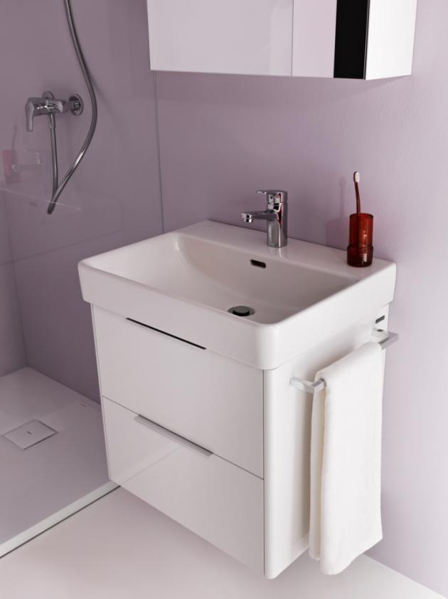 Čas strávený v koupelně je součástí dne každého z nás, a proto by koupelna měla být nejen krásná, ale i funkční.  S kolekcí Base, která je kompatibilní také s umyvadly ze série Pro S, splňuje koupelna oba faktory.