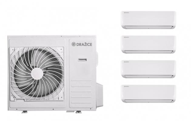 Multisplit AIR Plus Quattro – jedna venkovní jednotka se čtyřmi vnitřními zajistí optimální komfort vcelém bytě