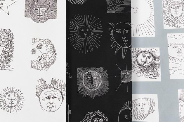 Dosud nepublikované črty Piera Fornasettiho se staly ústředním motivem nové kolekce Solitario (Fornasetti).