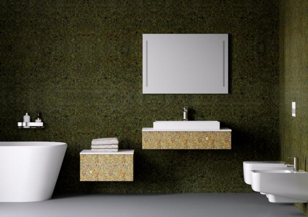 Jasná, čistá a jednoduchá řada Module s organickým povrchem a plátkem v bílém vysokém lesku