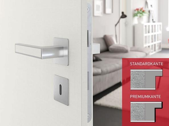 Výrobce dveří PRÜM často nastavuje standardy a zaručuje nejvyšší kvalitu až do nejmenších detailů včetně nové unikátní hrany Premiumkante.