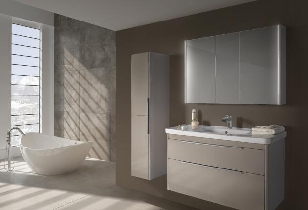 Domácí wellness s elegantním nábytkem ENZO (galerka ENZO nabízí LED osvětlení, jehož intenzita lze také regulovat)